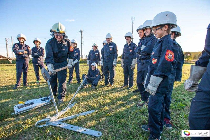 Feuerwehrjugend Kirchberg am Wagram - praktisches Arbeiten