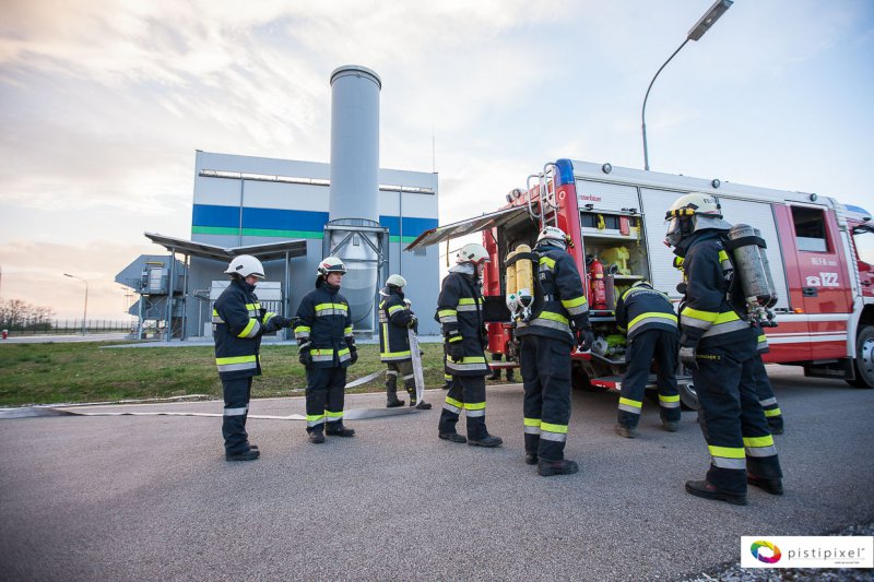 Brandübung in der Gas Connect Austria-Gasverdichterstation-Kirchberg am Wagram