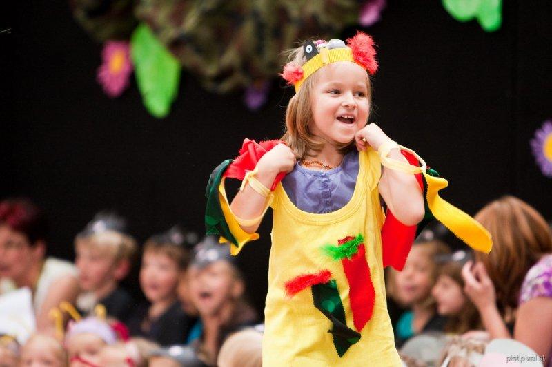 Sommerfest Kindergarten Kirchberg am Wagram - Kindermusical - Wo ist meine Mami; Foto: Jürgen Pistracher