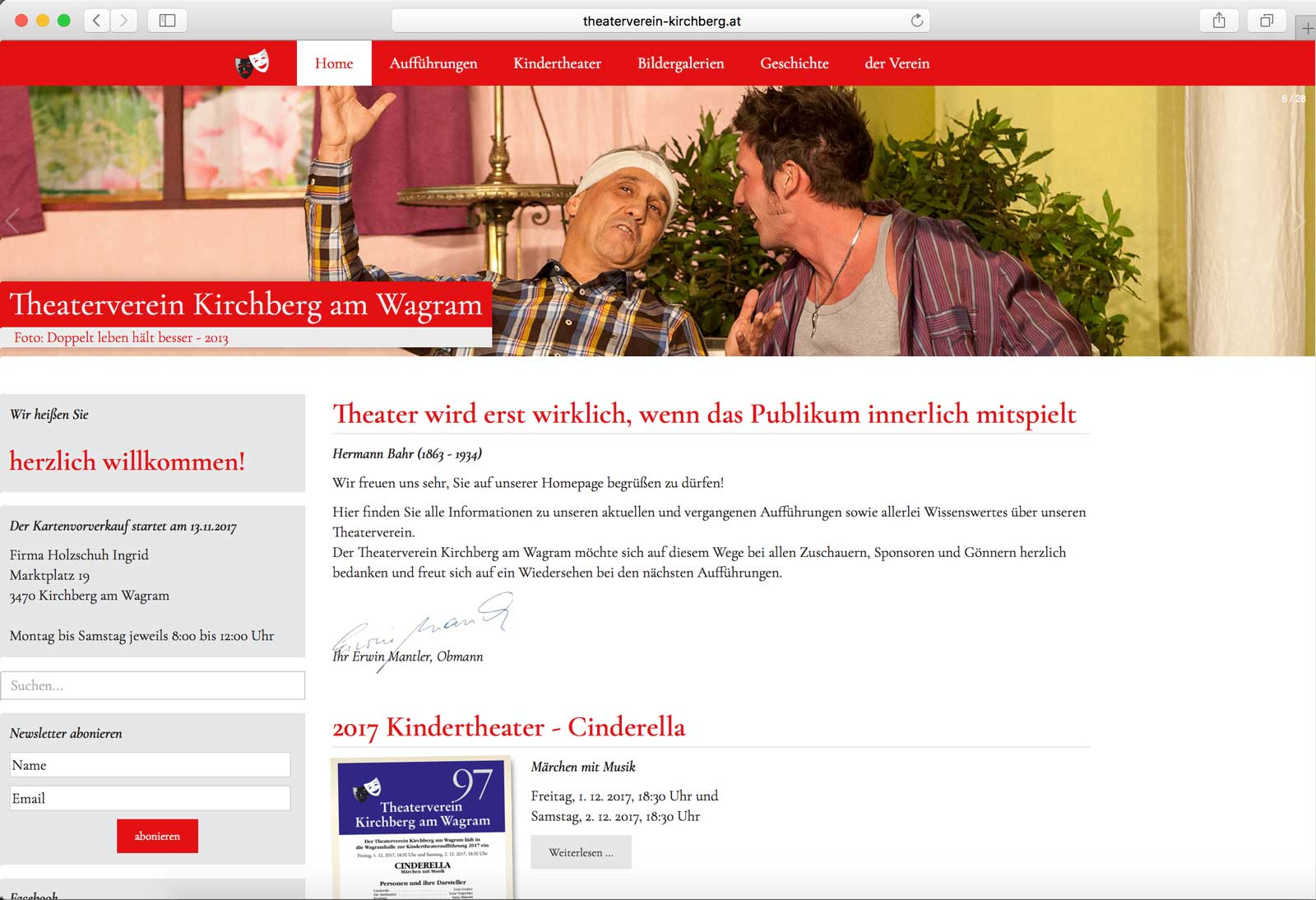 Homepage Theaterverein Kirchberg am Wagram